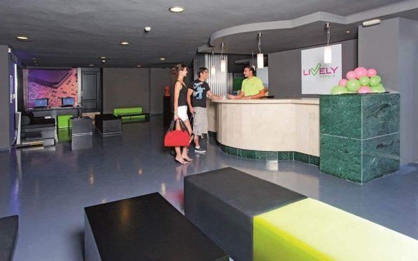Lively Magaluf Hotel Reception desk