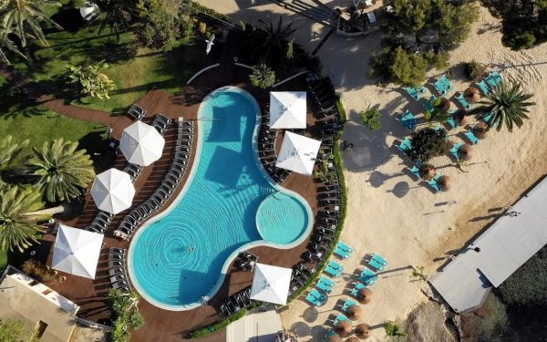 Son Caliu Spa & Oasis aerial view main pool