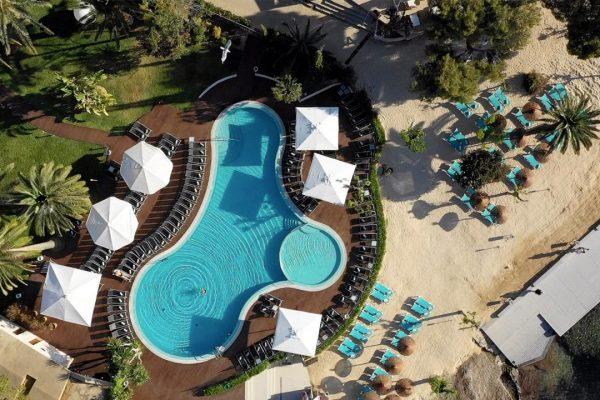 Son Caliu Spa & Oasis aerial view main pool