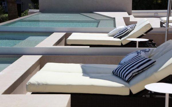 Son Caliu Spa & Oasis sunbeds pool